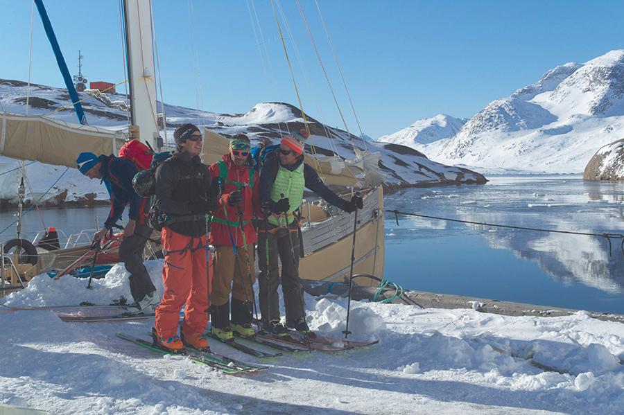 Départ à ski de la louise