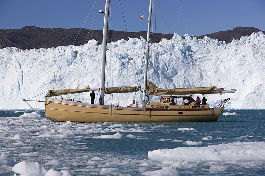 Navigation près des glaciers
