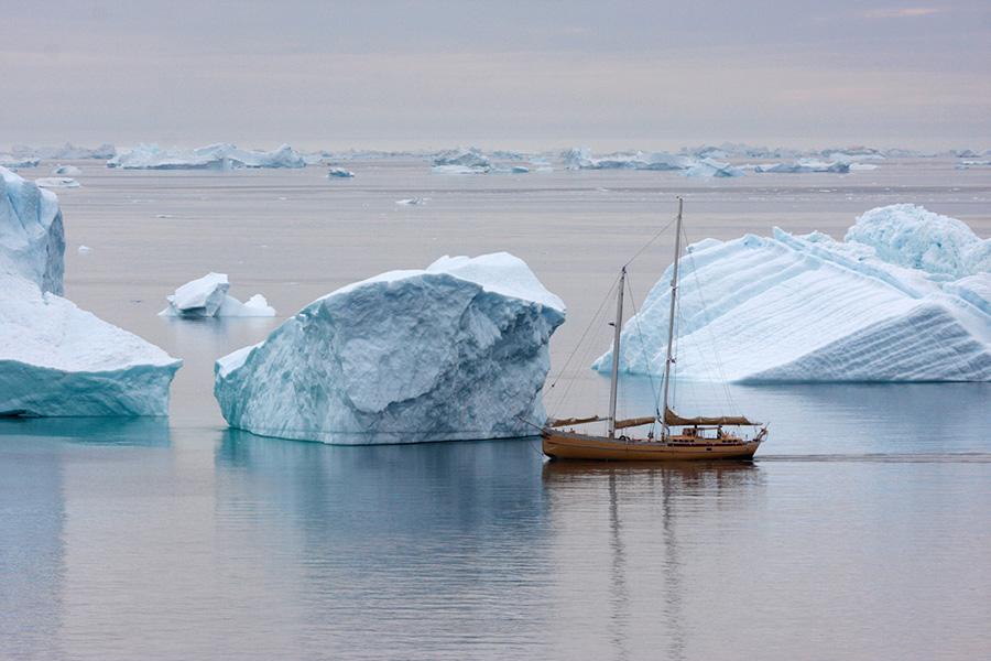 Navigation au milieu des icebergs