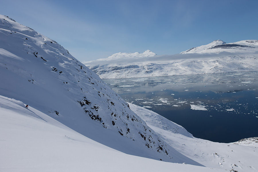Pistes de ski vierges