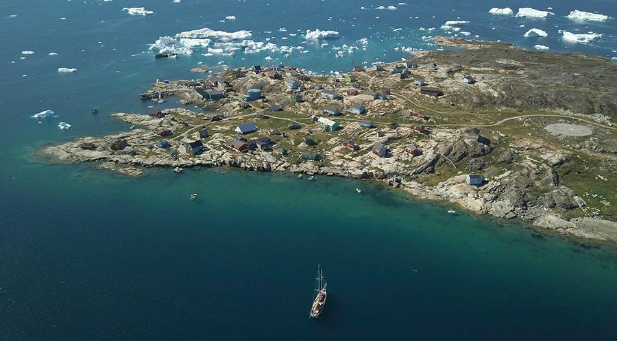 Qeqertaq dans la Baie de Disko au Groenland