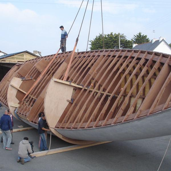 Construction du bateau La Louise