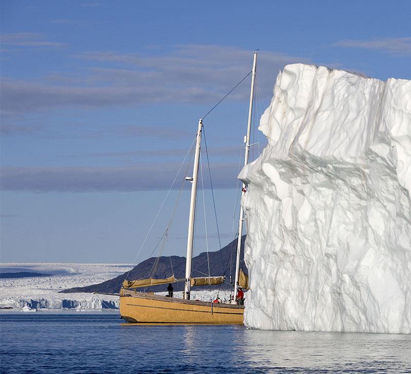La louise et les icebergs du Groenland