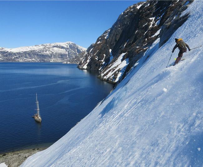 Ski au sud ouest du Groenland
