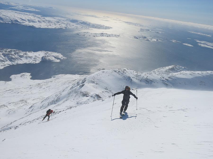 Pistes de ski au Groenland