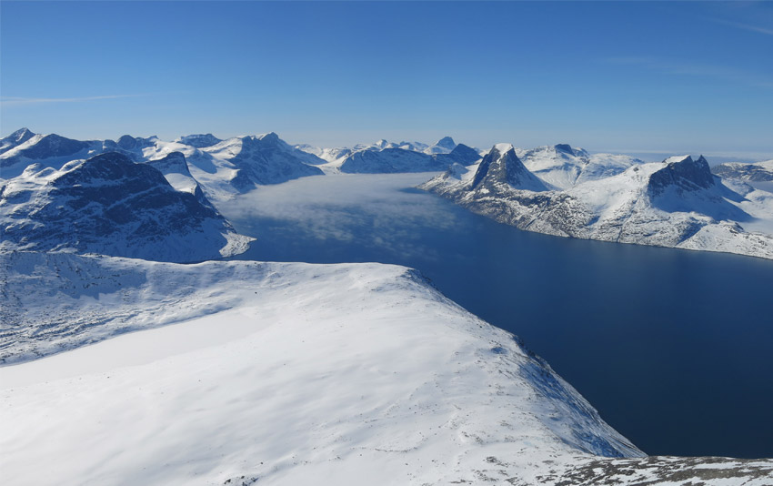 Ski au Groenland - Sommet